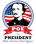 Poe For President Clothing with Color Logo