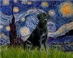 STARRY NIGHT<br>& Black Labrador Retriever