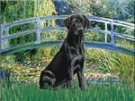 LILY POND BRIDGE<br>& Black Labrador Retriever