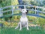 LILY POND BRIDGE<br>& White Bull Terrier