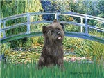 LILY POND BRIDGE<br>& Brindle Cairn Terrier