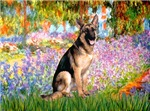 GARDEN AT GIVERNEY<br>& German Shepherd