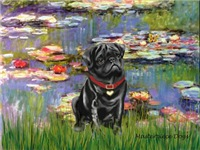 LILIES (#2)<br>& Black Pug