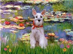 WATER LILIES<br>Miniature Schnauzer (cropped ears)