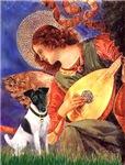 ANGEL WITH MANDOLIN<br>& Smooth Fox Terrier