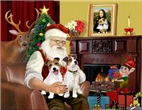 SANTA AT HOME<br>& Jack Russell Terrier