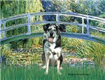 LILY POND BRIDGE<br> & Catahoula Leopard Dog