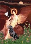 SEATED ANGEL<br>& Rottweiler #6