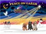 CHRISTMAS SUNRISE<br>& 3 Cairn Terriers