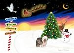 CHRISTMAS SIGNS<br>& Old English Sheepdog