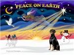 CHRISTMAS SUNRISE<br>& Doberman Pinscher