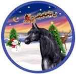 Black Arabian Horse<br> in Santa's Take Off
