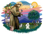 St. Francis #2 &<br>Poodle White (Toy.Min)