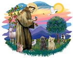 St. Francis #2 &<br>Cairn Terriers (TWO)