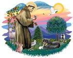 St. Francis #2 &<br> Tibetan Spaniel (tri colored)