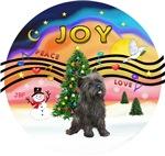 CHRISTMAS MUSIC #2<br>Brindle Cairn Terrier