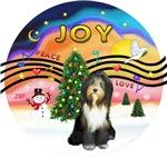 CHRISTMAS MUSIC #2<br>Bearded Collie (grey)