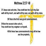 Matthew 22: 37-40