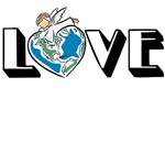 Earth Day Love T-shirts, Gifts, Decor, Stickers