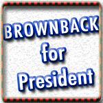 Sam Brownback for President Tshirts, Buttons, Mugs