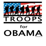 Troops for Obama T-shirts, Sweatshirts, Apparel