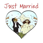 Just Married Gifts, Shirts and Favors