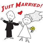 Cute Couple Just Married Clothing and Gifts