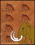 mammoth and cave painting