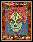 Halloween Day of the Dead T-shirt, Frida Kahlo Des