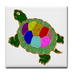 Jewelled Turtle Stained Glass