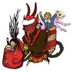 Naughty Children Caught by Krampus