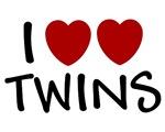 I HEART HEART TWINS SHIRT I LOVE TWINS T-SHIRT GIF
