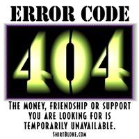 Error Code 404 Shirts