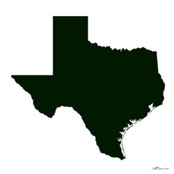 Dark Green Texas Outline