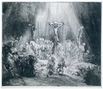 The Three Crosses by Rembrandt, 1653