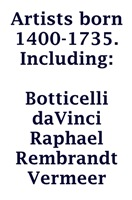 ArtzWithArtist Born 1400-1735