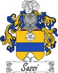 Sassi Family Crest, Coat of Arms