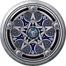 Silver Pagan Pentacle