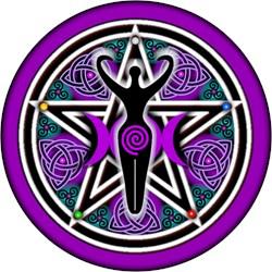 Purple-Teal Goddess Pentacle