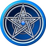 Blue Pentacle w/inlay