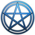 Blue Metal Pagan Pentacle