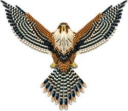 Beadwork Aplomado Falcon