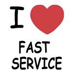 I heart fast service