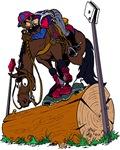 Horse on Log Jump