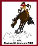 Bucking English Horse