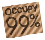 occupy 99% cardboard
