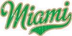Miami Script Green VINTAGE