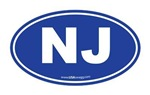 New Jersey NJ Euro Oval BLUE