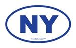 New York NY Euro Oval BLUE