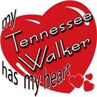 Walking Horse T-shirt, Gifts: Heart